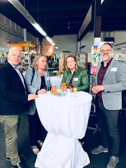 Von links nach rechts: CDU-Ratsherr Richard Halberstadt, Heike Clephas, Simone Wendland MdL, Geschäftsführer Rainer Wick
