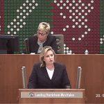 """Rede zum Antrag der AfD """"Geschönte Statistiken oder Steuergeldverschwendung?"""". Foto: Landtag NRW."""