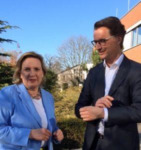 Simone Wendland MdL und NRW-Verkehrsminister Hendrik Wüst