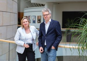Die CDU-Landtagsabgeordneten Simone Wendland und Stefan Nacke.