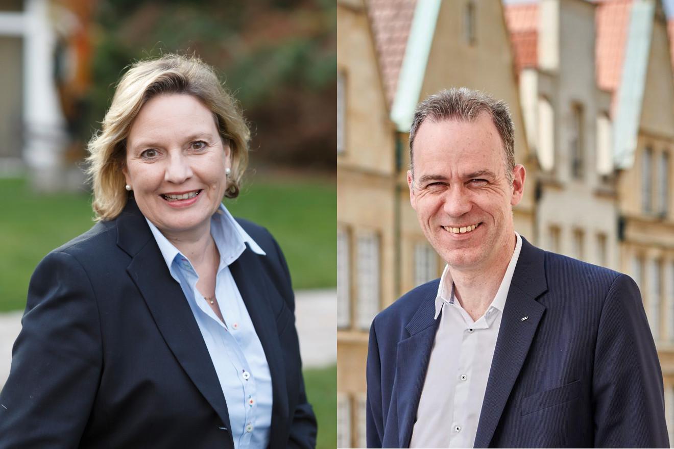 Simone Wendland MdL und Stefan Leschniok