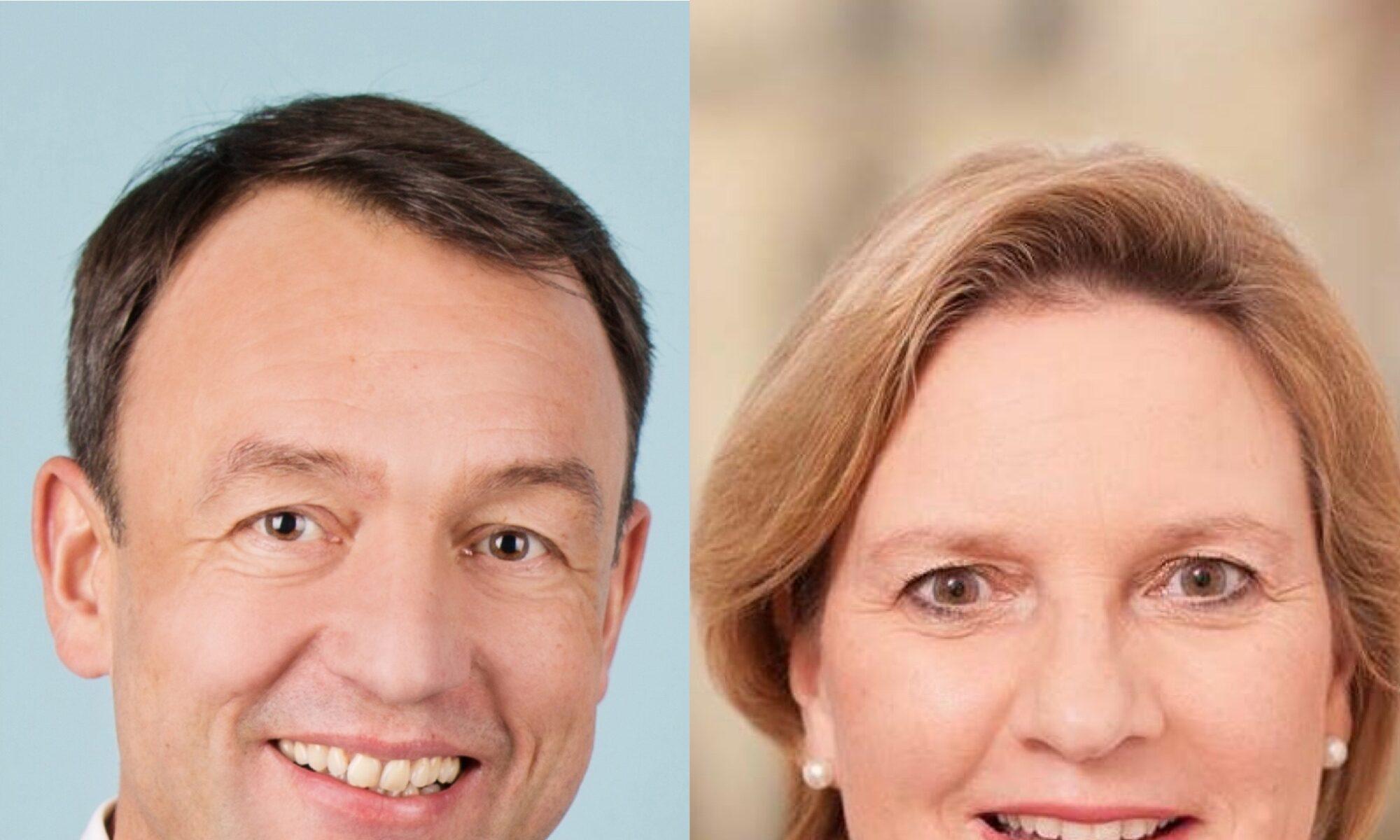 Ratsherr Dr. Dietmar Erber und Landtagsabgeordnete Simone Wendland