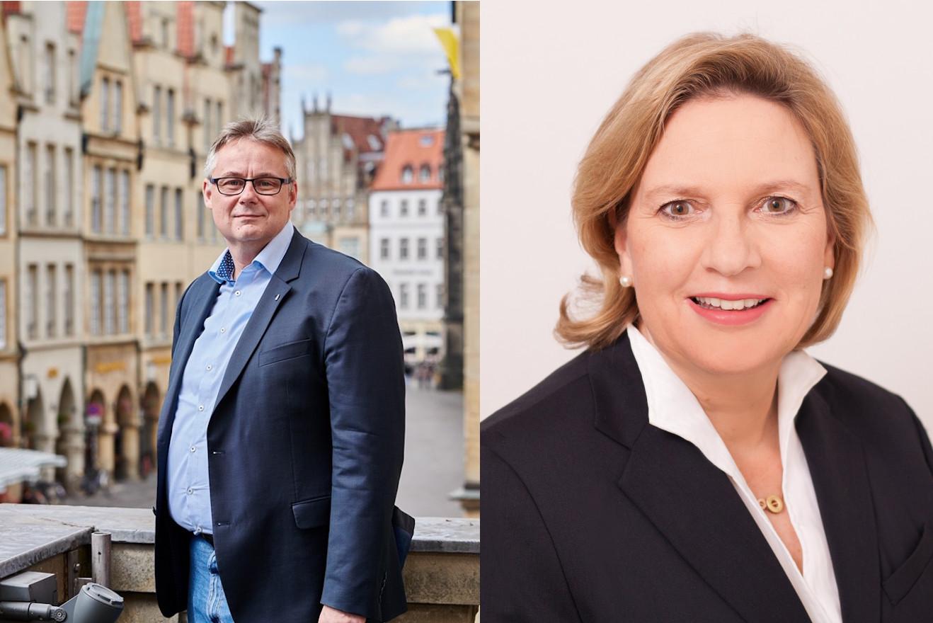 Ratsherr Frank Baumann und Landtagsabgeordnete Simone Wendland