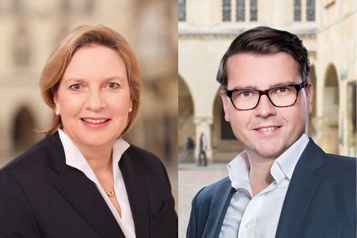 Simone Wendland MdL und Ratsherr Tobias Jainta